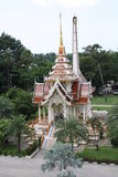 Temple in Thailand. One of the many beautiful temples in Thailand, amazing fret work Royalty Free Stock Photos