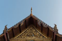 The temple of thailand Royalty Free Stock Photography