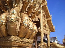Temple in Thailand. Sky gold travel Royalty Free Stock Images