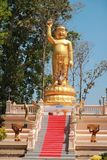 Temple in Thailand There is a beautiful Buddha. Antique Wood Carving. Wat Thai Samakkhi, Mae Sot District, Tak Province. Temple in Thailand There is a beautiful Royalty Free Stock Images