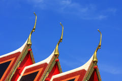 Temple in Thailand. (on top Royalty Free Stock Images