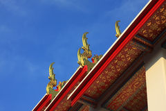 Temple in Thailand. (on top Royalty Free Stock Photography