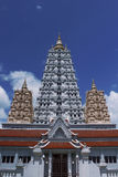Temple. In  Thailand top tower wat  n Royalty Free Stock Images