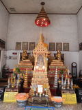 The temple. This is the temple at Thailand.It is very beautiful place.It is the center of buddishm.It have mong that is pray everyday Royalty Free Stock Photo