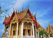 Temple in Thailand. Wat Tham Sua and Wat Tham Khao Noi, Kanchanaburi Royalty Free Stock Images