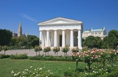 Temple of Theseus. Park Volksgarten, Vienna Austria Royalty Free Stock Photo