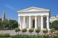 Temple of Theseus in the park Volksgarten, Vienna Austria Stock Photos
