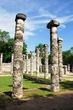 Temple of The Thousand Columns, Chichen itza Stock Images