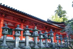 Temple of thousand lanterns in Nara, Japan Royalty Free Stock Images