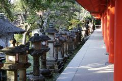 Temple of thousand lanterns in Nara, Japan Stock Photography