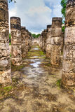 Temple of a Thousand Warriors in Chichen Itza royalty free stock images