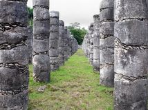 Temple of Thousand Warriors, Chichen Itza archeological site, Mexico. stock photo