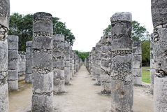 Temple of a Thousand Warriors in Chichen Itza Stock Image