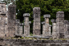 Temple of a Thousand Warriors in Chichen Itza Stock Images