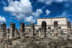 Temple of a Thousand Warriors in Chichen Itza Stock Photo