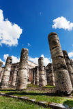 Temple of Thousand Warriors columns Itza Mexico Stock Image