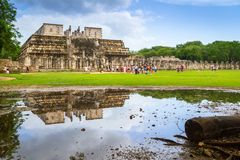 The Temple of Thousand Warriors in Mexico Royalty Free Stock Photos