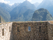 Temple of the Three Windows at Machu Picchu ruins, Royalty Free Stock Images