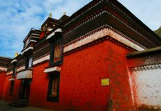 The temple of tibet. Looks very beautiful Royalty Free Stock Photos