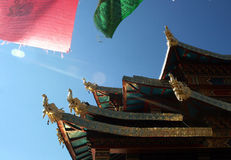 Temple of Tibet style in Shangrila, China Stock Photos
