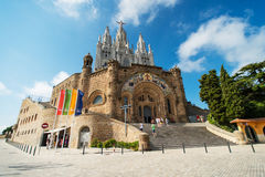 Temple at Tibidabo Royalty Free Stock Images