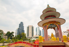 Temple in Tio Chew Chinese Cemetery. Bangkok Stock Image