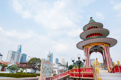Temple in Tio Chew Chinese Cemetery. Bangkok Royalty Free Stock Photography