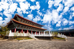 Temple to Confucius with beautiful sky Royalty Free Stock Photo