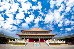 Temple to Confucius with beautiful sky Royalty Free Stock Photos