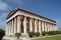 Temple to Hephaestus in Athens Stock Photo