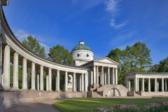 Temple-tomb Yusupov in Manor Arkhangelskoe - the palace and park ensemble of the late XVIII - early XIX century in Moscow. Moscow, RUSSIA - June 23, 2017: Temple Stock Photography