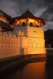 Temple of the Tooth. Evening. Sri Lanka royalty free stock images