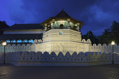 Temple of the Tooth. Evening. Sri Lanka Royalty Free Stock Photography