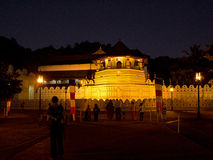Temple of tooth in Kandy, Sri Lanka at night Stock Photography