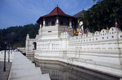 Temple of the Tooth Relic, Kandy, Sri Lanka. The home to the Temple of the (Buddha's) Tooth Relic, Kandy, Sri Lanka - that was once subject to a major terrorist Royalty Free Stock Image