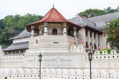 Temple of the Tooth and Royal Palace - Kandy, Sri Lanka. Sri Dalada Maligawa or the Temple of the Sacred Tooth Relic is a Buddhist temple in the city of Kandy stock images