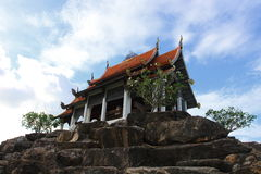 Temple Top. Temple on top of a rocky Mountain, taken in Thaland Royalty Free Stock Photography