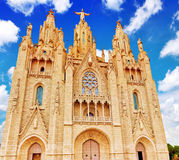 Temple on top of Mount Tibidabo Royalty Free Stock Image