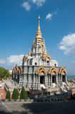 Temple. On the top of the mountain of Doi Mae Salong Stock Photo