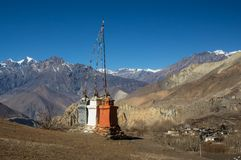 Temple on top of mountain Royalty Free Stock Images