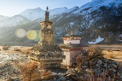 Temple on top of mountain Stock Photography