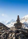 Temple on top of mountain Royalty Free Stock Image