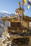 Temple on top of mountain Stock Images
