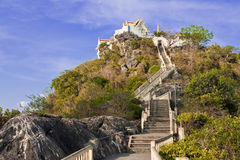 Temple on top of mountain, south of Thailand Royalty Free Stock Photos