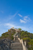 Temple on top of mountain, south of Thailand Stock Photo