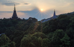 The temple on top of the mountain, Thailand Stock Image