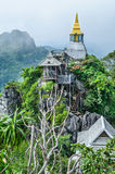 Temple on top of mountain Stock Image
