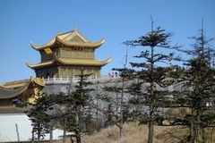 Jinding temple  of MT.Emei Royalty Free Stock Image