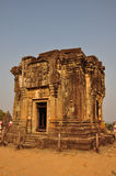 Temple on the top of Phnom Bakheng, Angkor Stock Image