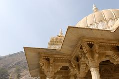 Temple Tops. Domes of an Indian temple Royalty Free Stock Photos
